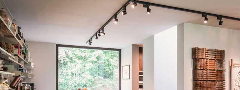Светодиодные трековые системы освещения в домашнем интерьере