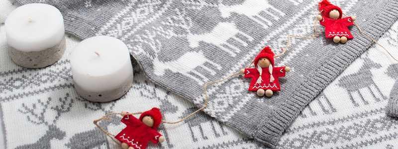 Дизайнерский текстиль с новогодним декором